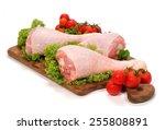 turkey thighs | Shutterstock . vector #255808891