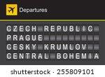 czech republic flip alphabet... | Shutterstock .eps vector #255809101