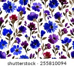 vector pattern with flowers and ...