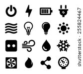 electric icons set | Shutterstock .eps vector #255824467