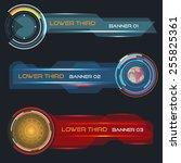 set of vector lower third... | Shutterstock .eps vector #255825361