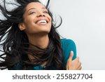 Closeup Of Smiling Young Woman...