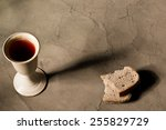 Chalice Of Wine With Bread