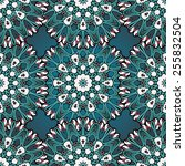 green and blue seamless mandala ... | Shutterstock .eps vector #255832504