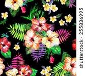 vivid seamless floral pattern.... | Shutterstock . vector #255836995