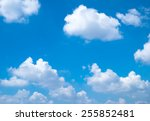 beautiful day with clear sky... | Shutterstock . vector #255852481