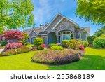 big luxury custom made house... | Shutterstock . vector #255868189