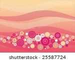 circles on pink background. | Shutterstock .eps vector #25587724