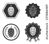 hop craft beer sign symbol label | Shutterstock .eps vector #255886489