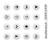 arrow sign icon set. gray ... | Shutterstock .eps vector #255911959
