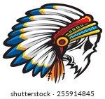 native american indian | Shutterstock .eps vector #255914845