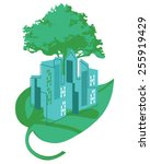 green city enviroment and... | Shutterstock .eps vector #255919429