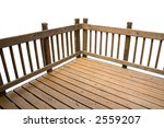 A Deck Isolated On A White...