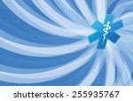 medical symbol and waves... | Shutterstock .eps vector #255935767