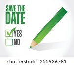 save the date check mark... | Shutterstock .eps vector #255936781