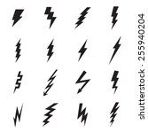 Lightning Bolt Icon. Vector...