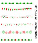 collection on christmas borders ... | Shutterstock .eps vector #255949231