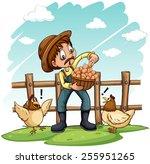 Постер, плакат: A farmer with a