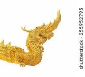 arts of buddhism   king of naga ... | Shutterstock . vector #255952795