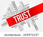 trust word cloud  business... | Shutterstock .eps vector #255972157