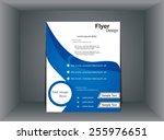 abstract fl yer design | Shutterstock .eps vector #255976651