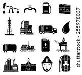 oil industry icons set | Shutterstock .eps vector #255978037