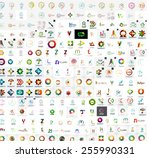 abstract company logo vector... | Shutterstock .eps vector #255990331