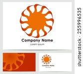 business card template ... | Shutterstock .eps vector #255996535