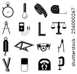 measurement tools icons set | Shutterstock .eps vector #256000267