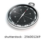 compass with modern black scale ... | Shutterstock . vector #256001269