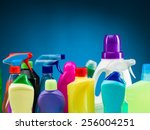 close up of cleaning supplies... | Shutterstock . vector #256004251