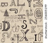 modern hand drawn seamless...   Shutterstock .eps vector #256005199