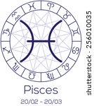 zodiac sign   pisces.... | Shutterstock .eps vector #256010035
