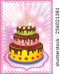 birthday cake | Shutterstock .eps vector #256021381