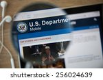 Small photo of CHIANGMAI, THAILAND - February 26, 2015: Photo of the U.S. Department of Veterans Affairs homepage on a ipad monitor screen through a magnifying glass.