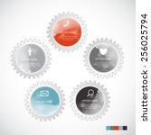 infographic templates for... | Shutterstock .eps vector #256025794