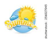 beautiful summer illustrations .... | Shutterstock .eps vector #256027045