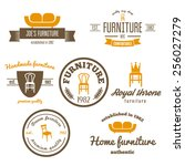set of vintage logo  badge... | Shutterstock .eps vector #256027279
