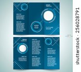 brochure design template... | Shutterstock .eps vector #256028791