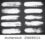 set of ink vector stains   Shutterstock .eps vector #256030111