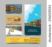 business card set | Shutterstock .eps vector #256035031