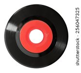 seven inch 45rpm vinyl record isolated on white - stock photo