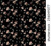 roses seamless pattern  | Shutterstock . vector #256049377