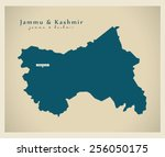 modern map   jammu   kashmir in | Shutterstock .eps vector #256050175