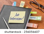 planner with sticky note   job... | Shutterstock . vector #256056607