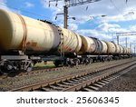 the train transports oil in