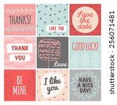 thank you  love you  good luck... | Shutterstock .eps vector #256071481