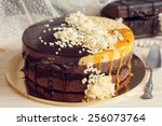 Romantic Cake With Chocolate...