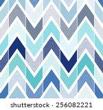 seamless doodle dots chevron... | Shutterstock .eps vector #256082221