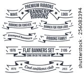 original banners and ribbons... | Shutterstock .eps vector #256083394